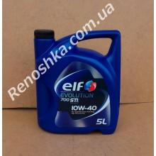 Масло моторное ELF 10W40 EVOLUTION 700 STI ( 5л ) для бензинового двигателя, полусинтетика, 5 литров!