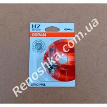 Лампа накаливания H7 ( для фар ближнего и дальнего света ) OSRAM, 55w!