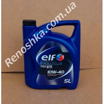 Масло моторное ELF 10W40 EVOLUTION 700 STI ( 5л ) для бензинового двигателя, полусинтетика, 5 литров! для RENAULT LOGAN