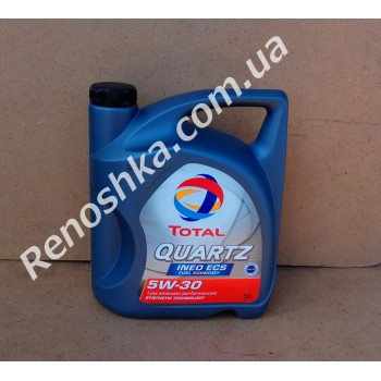 Масло моторное TOTAL QUARTZ INEO ECS 5W30 ( 5л ) синтетика, 5 литров! для RENAULT LOGAN
