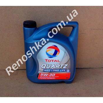 Масло моторное TOTAL QUARTZ INEO LONG LIFE 5W30 ( 5л ) синтетика, 5 литров! для RENAULT LOGAN