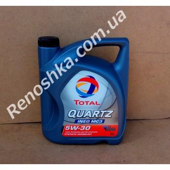 Масло моторное TOTAL QUARTZ INEO MC3 5W30 ( 5л ) синтетика, 5 литров! для RENAULT LOGAN