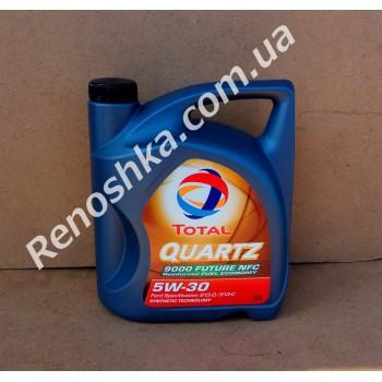 Масло моторное TOTAL QUARTZ 9000 FUTURE NFC 5W30 ( 5л ) синтетика, 5 литров! для RENAULT LOGAN