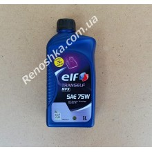 Масло КПП ELF 75W80 TRANSELF NFJ (трансмиссионное масло в коробку передач) 1л для RENAULT LOGAN