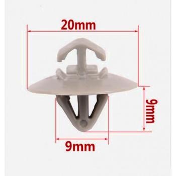 Клипса для крепления обшивки салона ( пистон обшивки салона, карт дверей ) 9mm, цена за 1 штуку. для RENAULT LOGAN