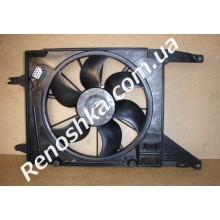 Вентилятор охлаждения в сборе ( на автомобили с кондиционером ) после 2008 года! для RENAULT LOGAN 1.6 K7M 710 87 л.с.