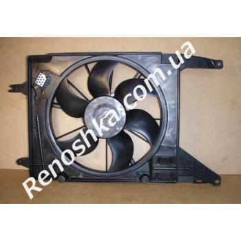 Вентилятор охлаждения в сборе ( на автомобили с кондиционером ) после 2008 года! для RENAULT LOGAN