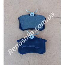 Колодки задние ( комплект, 4 штуки ) на машину с задними дисковыми тормозами! для PEUGEOT