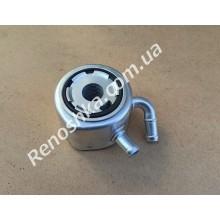 Масляный охладитель ( масляный радиатор, теплообменник ) с двумя трубками, на машины до 2010 года!