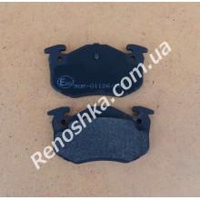 Колодки задние ( комплект, 4 штуки ) на дисковые тормоза! для PEUGEOT