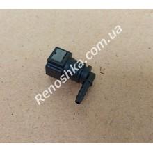Штуцер топливного фильтра, шланга, переходник топливной трубки, быстросъемный ( угловой ) 8mm быстросъем / 4mm под топливную трубку! для RENAULT LOGAN