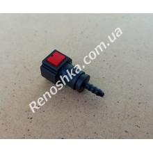 Штуцер топливного фильтра, шланга, переходник топливной трубки, быстросъемный ( прямой ) 6.30mm быстросъем / 4mm под топливную трубку! для RENAULT LOGAN