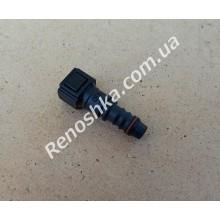 Штуцер топливного фильтра, шланга, переходник топливной трубки, быстросъемный ( прямой ) 6.30mm быстросъем / 10mm под топливную трубку! для RENAULT LOGAN