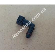 Штуцер топливного фильтра, шланга, переходник топливной трубки, быстросъемный ( угловой ) 6.30mm быстросъем / 10mm под топливную трубку! для RENAULT LOGAN 1.6 16v K4M 690 105 л.с.