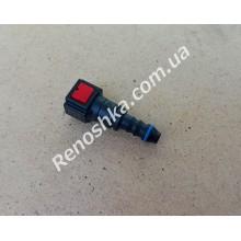Штуцер топливного фильтра, шланга, переходник топливной трубки, быстросъемный ( прямой ) 6.30mm быстросъем / 8mm под топливную трубку! для RENAULT LOGAN