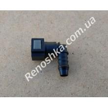 Штуцер топливного фильтра, шланга, переходник топливной трубки, быстросъемный ( угловой ) 8mm быстросъем / 10mm под топливную трубку! для RENAULT LOGAN