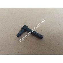 Штуцер топливного шланга ( на два выхода, под 90 градусов, 8mm ) переходник топливной трубки, с одной стороны под быстросъем 8mm, для бензина и дизеля! для RENAULT LOGAN